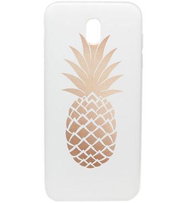 ADEL Siliconen Back Cover Softcase Hoesje voor Samsung Galaxy J7 (2017) - Gouden Ananas