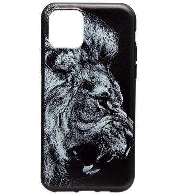 ADEL Siliconen Back Cover Softcase hoesje voor iPhone 11 - Donkere Leeuw
