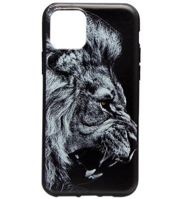 ADEL Siliconen Back Cover Softcase hoesje voor iPhone 11 Pro - Donkere Leeuw