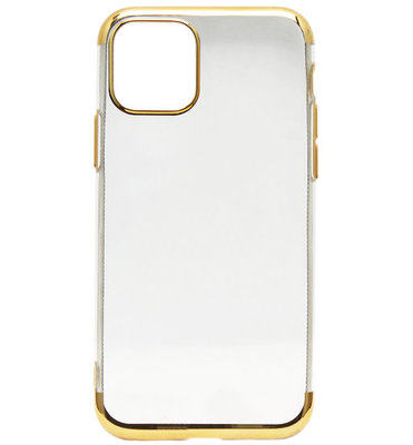 ADEL Siliconen Back Cover Softcase hoesje voor iPhone 11 Pro - Bling Bling Goud