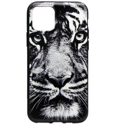 ADEL Siliconen Back Cover Softcase hoesje voor iPhone 11 Pro Max - Donkere Tijger