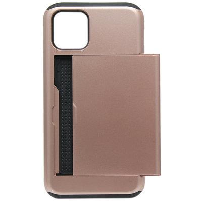 ADEL Kunststof Back Cover Hardcase hoesje voor iPhone 11 Pro Max - Pasjeshouder Bruin