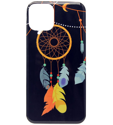 ADEL Siliconen Back Cover Softcase hoesje voor iPhone 11 Pro Max - Donkere Dromenvanger