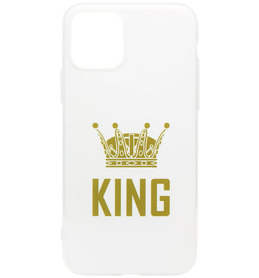 ADEL Siliconen Back Cover Softcase hoesje voor iPhone 11 Pro Max - King Goud