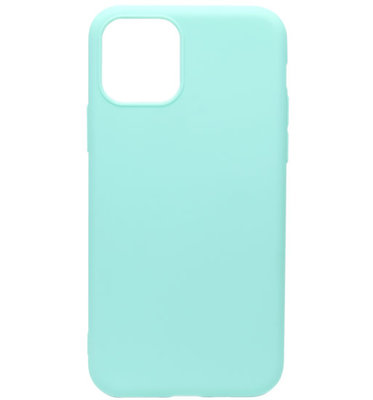 ADEL Siliconen Back Cover Softcase hoesje voor iPhone 11 Pro Max - Groenblauw