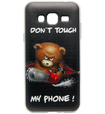 ADEL Siliconen Back Cover Softcase hoesje voor Samsung Galaxy J3 (2015)/ J3 (2016) - Don't Touch My Phone Beer