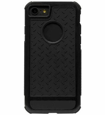 ADEL Rubber Bumper Case Hoesje voor iPhone SE (2020)/ 8/ 7 - Zwart
