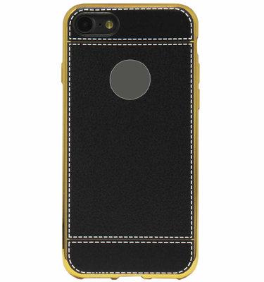 ADEL Kunstleren Back Cover Hoesje voor iPhone SE (2020)/ 8/ 7 - Zwart