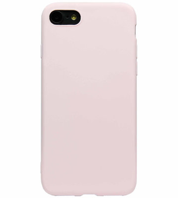 ADEL Siliconen Back Cover Softcase Hoesje voor iPhone SE (2020)/ 8/ 7 - Lichtroze