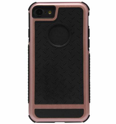 ADEL Rubber Bumper Case Hoesje voor iPhone SE (2020)/ 8/ 7 - Goudroze