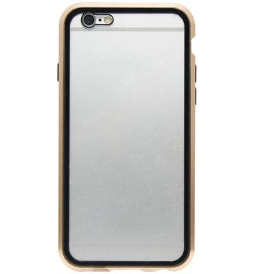 ADEL Magnetisch Kunststof Full Body Cover Hoesje voor iPhone SE (2020)/ 8/ 7 - Goud