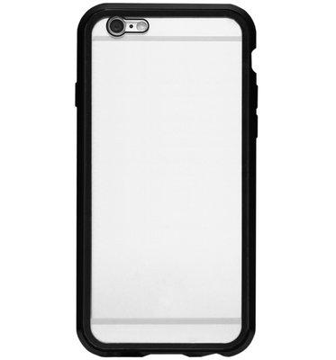 ADEL Magnetisch Kunststof Full Body Cover Hoesje voor iPhone SE (2020)/ 8/ 7 - Zwart