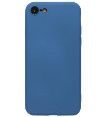 ADEL Premium Siliconen Back Cover Softcase Hoesje voor iPhone SE (2020)/ 8/ 7 - Blauw