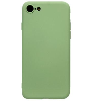 ADEL Premium Siliconen Back Cover Softcase Hoesje voor iPhone SE (2020)/ 8/ 7 - Lichtgroen