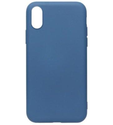 ADEL Premium Siliconen Back Cover Softcase Hoesje voor iPhone XS/X - Blauw