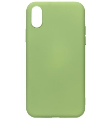 ADEL Premium Siliconen Back Cover Softcase Hoesje voor iPhone XS/X - Lichtgroen
