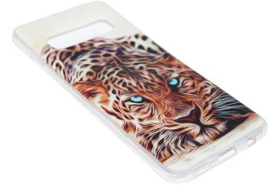 Oranje tijger siliconen hoesje Samsung Galaxy S10
