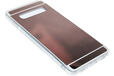 Beige spiegel hoesje Samsung Galaxy S10