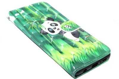 Panda kunstleer hoesje Samsung Galaxy S10