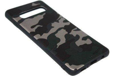 Groene camouflage back cover Samsung Galaxy s10