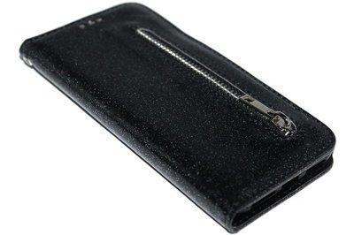 ADEL Kunstleer Book Case Portemonnee Hoesje voor iPhone XS/X - Bling Bling Zwart