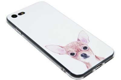 ADEL Siliconen Back Cover Hoesje voor iPhone SE (2020)/ 8/ 7 - Chihuahua Hond