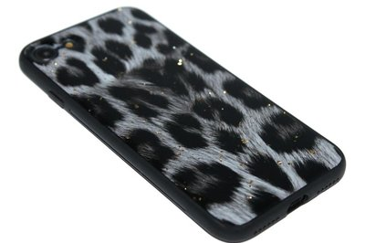ADEL Siliconen Back Cover Hoesje voor iPhone SE (2020)/ 8/ 7 - Glimmende Luipaard