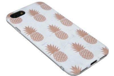 ADEL Siliconen Back Cover Hoesje voor iPhone SE (2020)/ 8/ 7 - Gouden Ananassen