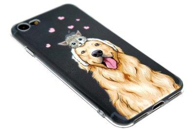 ADEL Siliconen Back Cover Hoesje voor iPhone SE (2020)/ 8/ 7 - Labrador Hond