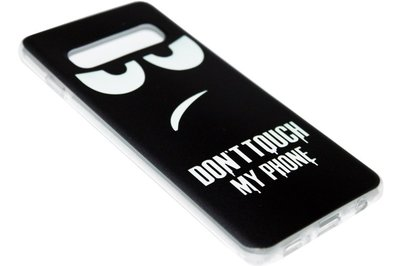 ADEL Siliconen Back Cover Hoesje voor Samsung Galaxy S10 - Don't Touch My Phone
