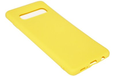 ADEL Siliconen Back Cover Hoesje voor Samsung Galaxy S10 - Geel