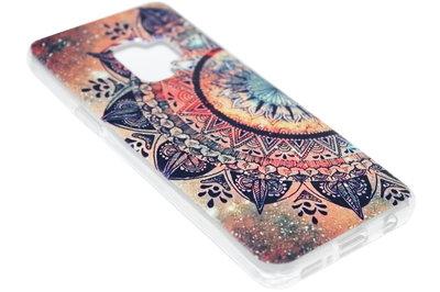 ADEL Siliconen Back Cover Hoesje voor Samsung Galaxy S9 - Mandala Bloemen