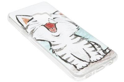 ADEL Siliconen Back Cover Hoesje voor Samsung Galaxy S9 - Schattige Kat