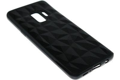 ADEL Siliconen Back Cover Hoesje voor Samsung Galaxy S9 - Diamanten Zwart