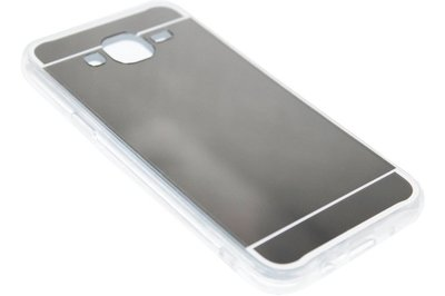 ADEL Siliconen Back Cover Hoesje voor Samsung Galaxy J7 (2015) - Glimmende Spiegel Zilver