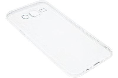 ADEL Siliconen Back Cover Hoesje voor Samsung Galaxy J7 (2015) - Doorzichtig Transparant