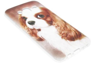 ADEL Siliconen Back Cover Hoesje voor Samsung Galaxy J7 (2015) - Cavalier King Charles Spaniel Hond