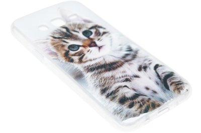ADEL Siliconen Back Cover Hoesje voor Samsung Galaxy J7 (2015) - Schattige Kat