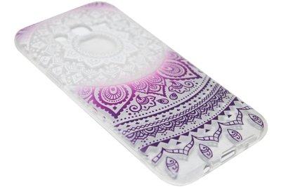 ADEL Siliconen Back Cover Hoesje voor Samsung Galaxy J7 (2015) - Mandala Dromenvanger Witroze