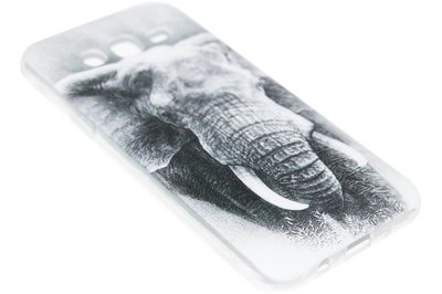 ADEL Siliconen Back Cover Hoesje voor Samsung Galaxy J7 (2015) - Olifant