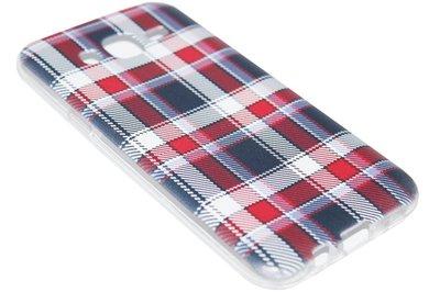 ADEL Siliconen Back Cover Hoesje voor Samsung Galaxy J7 (2015) - Traditioneel Stoffen Design