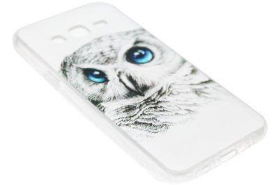 ADEL Siliconen Back Cover Hoesje voor Samsung Galaxy J7 (2015) - Witte Uil