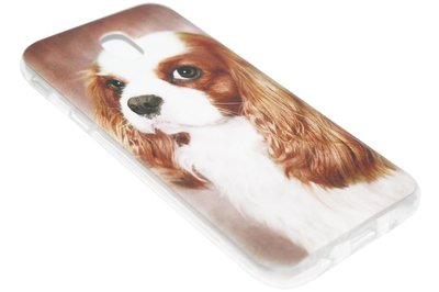 ADEL Siliconen Softcase Back Cover Hoesje voor Samsung Galaxy J7 (2017) - Cavalier King Charles Spaniel Hond