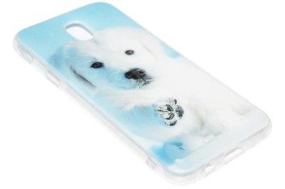 ADEL Siliconen Softcase Back Cover Hoesje voor Samsung Galaxy J7 (2017) - Schattige Hond