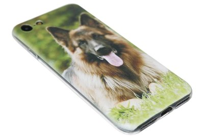 ADEL Siliconen Back Cover Softcase Hoesje iPhone SE (2020)/ 8/ 7 - Duitse Herder