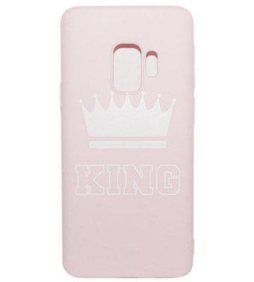 ADEL Siliconen Back Cover Softcase Hoesje voor Samsung Galaxy S9 - King Roze