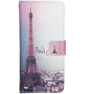 ADEL Kunstleren Book Case Hoesje voor Samsung Galaxy J7 (2017) - Parijs Eiffeltoren