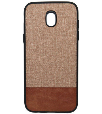 ADEL Siliconen Back Cover Softcase Hoesje voor Samsung Galaxy J7 (2017) - Stoffen Design