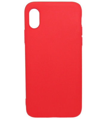 ADEL Siliconen Back Cover Hoesje voor iPhone XS/X - Rood