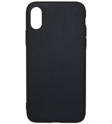 ADEL Siliconen Back Cover Hoesje voor iPhone XS/X - Zwart